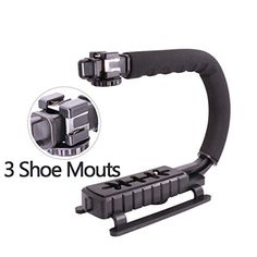 UGrip Triple 3 Shoe Mounts Video Action Stabilizing Handle Grip Rig for iPhone 7 Plus Canon Nikon Sony DSLR Camera  Camcorder -- Learn more by visiting the image link.Note:It is affiliate link to Amazon. #l4l