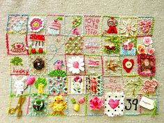 Birthday sampler. Love this! #Embroidery