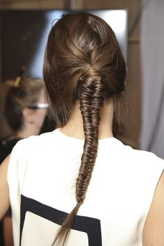 Do you love fishtail braid hairstyles? Or have you ever tried to style a fishtail braid hairstyle on your own? If you are going to experience with a fishtail braid hairstyle, you can get. Fishtail Braid Hairstyles, My Hairstyle, Pretty Hairstyles, Fishtail Ponytail, Teenage Hairstyles, Braided Updo, Hairstyles Haircuts, Hairstyle Ideas, Hot Hair Styles