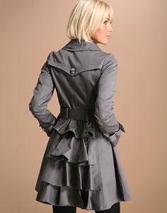Add some ruffles to a trench
