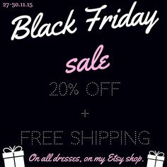 It is ON Let the SALE begin➡️20%off+Free shipping➡️On all dresses, on my Etsy shop⭐️ #blackfridaysale #cybermonday #etsysale