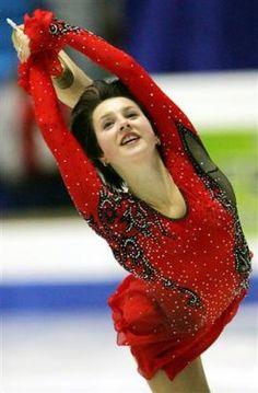 Irina Slutskaya -Red Figure Skating / Ice Skating dress inspiration for Sk8 Gr8 Designs.