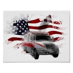 Canvas Art For Sale, Canvas Art Prints, Wall Prints, Black And White Flag, Paramedic Gifts, Glitter Cups, Ambulance, Custom Posters, Custom Framing
