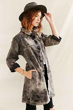e8944e7a87350 Urban Renewal Recycled German Shop Coat - Urban Outfitters