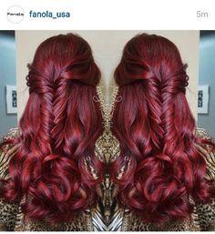 Winter Hairstyles, Diy Hairstyles, Pretty Hairstyles, Hair Color And Cut, Cool Hair Color, Auburn Red Hair, Red Hair Inspiration, Plum Hair, Hair Shades