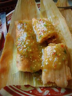 Chicken Tamales. Great Mexican recipes