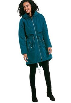 16f5bc68bb2 Brave the elements while keeping your feminine edge with our hooded anorak  jacket. Featuring a funnel neck