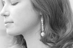 """Earings """"Spring"""". Silver, pearls"""