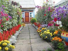 Gorgeous ideas of improving your dooryard by Dutch gardeners Garden Beds, Garden Paths, Garden Landscaping, Home And Garden, Beautiful Gardens, Beautiful Flowers, Landscape Design, Garden Design, Inside Plants