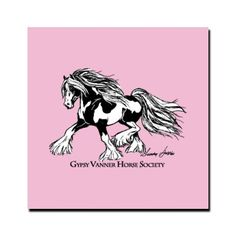 Gypsy Vanner Horse Society Car Magnet 5 x 5 | Waynesfield, OH (Ohio) | Powered by Fieldhouse