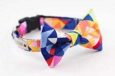 Hey, I found this really awesome Etsy listing at https://www.etsy.com/listing/184659576/colorful-prism-dog-bow-tie-collar
