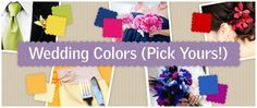 choose your wedding colors by viewing our color coordinated gallery