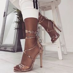 You and Me open toed gold strappy heels High Heels Stiletto, Gold Strappy Heels, Black High Heels, Lace Up Heels, High Heel Pumps, Dr Shoes, Me Too Shoes, Shoes Heels, Golf Shoes