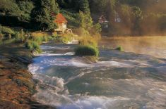 Old Watermill on the River - Old Watermill on the Mrežnica River, Croatia, is located on the edge of the natural waterfalls, made from the travertine rock. Best Countries In Europe, Natural Waterfalls, Best Sunset, Croatia, Places To See, Caribbean, Beautiful Places, Around The Worlds, Explore
