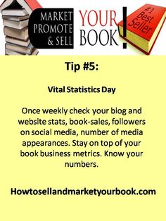 Love having a weekly Vital Statistics day to keep my business goals and metrics in front of me.  In interviewed Carol Topp, a CMA, who stated that businesses who are on top of their metrics and numbers and do their accounting weekly or monthly have a 70% chance of survival. Whereas businesses who just do the books at the end of the year only stand a 30% chance of survival...