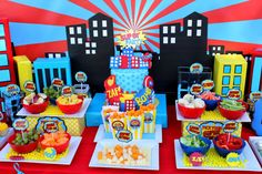 SUPERHERO Party COMPLETE Super Hero Party por KROWNKREATIONS