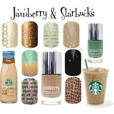 """""""Jamberry & Starbucks"""" by angiodancer on Polyvore"""