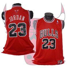 #23 Michael Jordan Chicago Bulls Red XL Nike Jersey #Nike #ChicagoBulls
