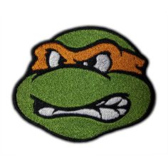 Ninja Turtle Head Patch (8.10 CAD) found on Polyvore featuring patches and accessories