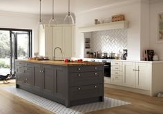 With no elaborate mouldings or fussy decoration, this simple and unpretentious design fits most kitchens and has outstood the test of time.