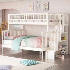 Birch Lane Lake House Twin Over Full Bunk Bed Reviews Wayfair