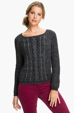 Free shipping and returns on Caslon® Cable Knit Sweater at Nordstrom.com. A collarbone-skimming neckline begins a soft pullover in a midweight cable knit spun from marled yarns.