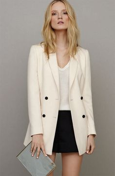 Love this REISS blazer / t shirt combo. Simple perfection | MIA LOVES PRETTY