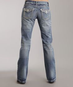 Love this Light Indigo Flap-Pocket 818 Bootcut Jeans on #zulily! #zulilyfinds