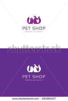 Pet shop logo teamplate.