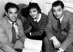 Frank Capra, Claudette Colbert & Clark Gable, 1934.