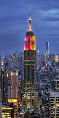 Rainbow Colors - Empire State Building, New York City