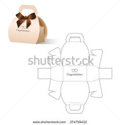 Retail Box With Blueprint Template Stock Vector Illustration 374759452 : Shutterstock