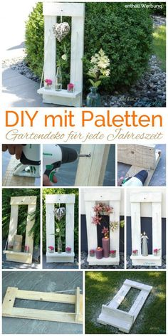 Tinker with Twercs - Diy Garden Box Ideas Garden Crafts, Diy Garden Decor, Garden Projects, Garden Decorations, Wood Projects, Summer Decoration, Palette Diy, Pallet Crafts, Diy Pallet
