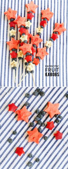 Trendy ideas fruit kabobs kids party of july Kabob Recipes, Fruit Salad Recipes, Fruit Snacks, Fruit Kabobs Kids, Salad Packaging, Wedding Snacks, Wedding Ideas, Fruit Logo, Fourth Of July Food