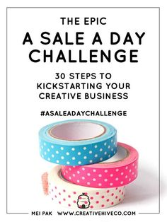 Calling creative business owners! Are you a maker, artist or designer looking to ramp up your sales?Maybe you have an Etsy shop or you've got a product idea in the works.And you'd really like to get to a place in your business where you're making a sale a day.How awesome ...