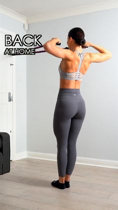 fitness Mujer espalda - Back workout at home Back Workout Women, Back Fat Workout, Fitness Workout For Women, Home Back Workout, Black Girls Workout Too, Back Workouts For Women, Upper Body Home Workout, Shoulder Workout At Home, Chest And Back Workout