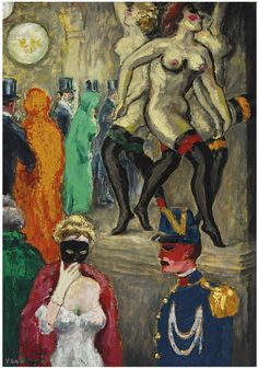 La danse de Carpeaux (Le bal masqué à l'Opéra), c.1904. Kees van Dongen (Dutch, 1877-1968)