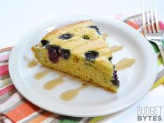 Lemon Blueberry Cornbread Skillet slice