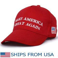 40e0084dec1 Make America Great Again Donald Trump Hat Cap Red- FREE SHIPPING from  U.S.A. Baseball CapsSports ...