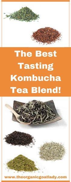 The Best Tasting Kombucha Tea Blend! – The Organic Goat Lady The Best Tasting Kombucha Tea Blend! Kombucha Flavors, Kombucha Scoby, How To Brew Kombucha, Kombucha Recipe, Probiotic Drinks, Best Probiotic, Green Tea Kombucha, Best Kombucha, Making Kombucha