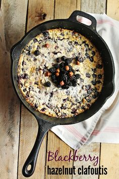 Simple and delicious spin on the classic French clafoutis! This blackberry hazelnut clafoutis has sweetness from wild Pacific Northwest blackberries, and crunch from nutty hazelnuts. Delicious!