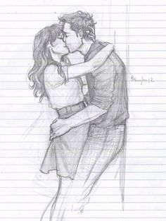 How To Draw A Cute Couple Kissing
