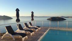Eleia Seafront Villas - Private Pool - Exterior - Villa Nissea Pool Molyvos - Petra Lesvos Island Private Pool, Greek Islands, Outdoor Furniture, Outdoor Decor, Petra, Villas, Sun Lounger, Exterior, Home Decor