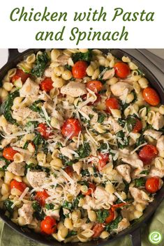 Chicken with Pasta and Spinach   eMeals.com