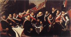 Frans Hals,  A Banquet of the Officers of the St. George Militia Company, 1616   - Frans Halsmuseum Haarlem.
