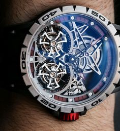 Roger Dubuis Excalibur Single and Double Tourbillon Watches Hands-On