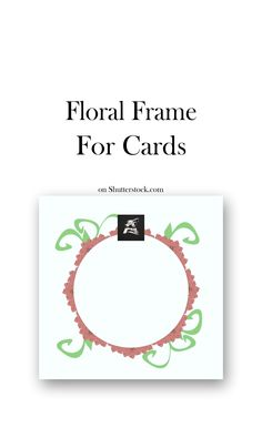 with orange and green floral elements, on a white background. Useful for , labels, invitation or greeting cards. Text Frame, Graphic Design Illustration, Photo Editing, Royalty Free Stock Photos, Banner, Greeting Cards, Messages, Invitations, Orange