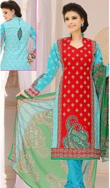 Casual Daily Wear Salwar Kameez in Red Color Cotton Fabric | FH514378288 #casual, #salwar, #kameez, #online, #trendy, #shopping, #latest, #collections, #summer,#shalwar, #hot, #season, #suits, #cheap, #indian, #womens, #dress, #design, #fashion, #boutique, #heenastyle, #clothing, #cotton, #printed, #materials, @heenastyle