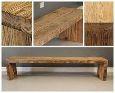 Sturdy Urban Wood Handmade Reclaimed Wood Plank Bench - FREE SHIPPING & Lifetime Warranty - Salvaged Barn Wood