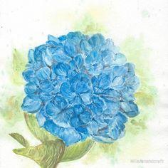 Blue hydrangea floral art #blue #hydrangea #flower #floral #clock #personalized #homedecor #homedesign #homedecoration #giftideas